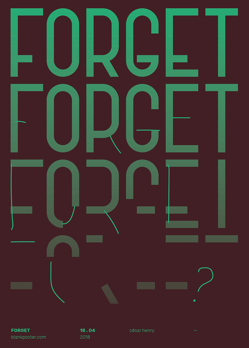 Blankposter :: Forget