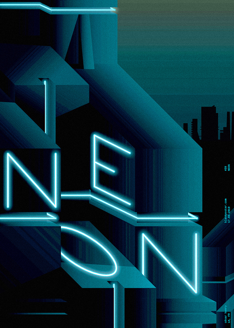 Blankposter :: Neon